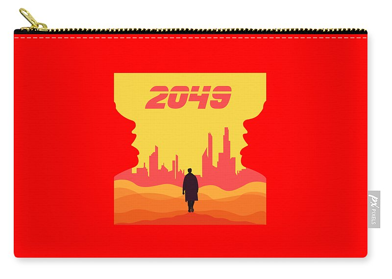 Blade Runner Blaster Carry-all Pouch featuring the digital art 2049 by Rinal Binal