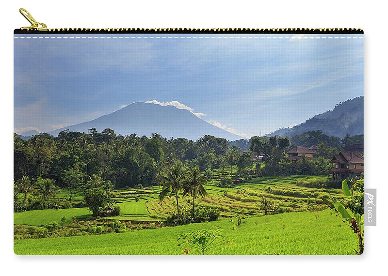 Scenics Carry-all Pouch featuring the photograph Indonesia, Bali, Rice Fields And by Michele Falzone