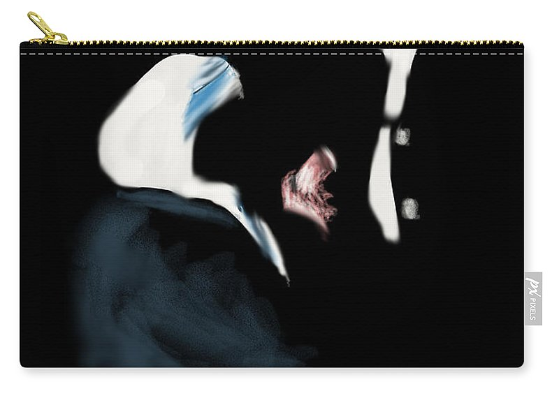 Princessdiana Carry-all Pouch featuring the digital art 22 - Meeting Of Hands by Oracle Artist