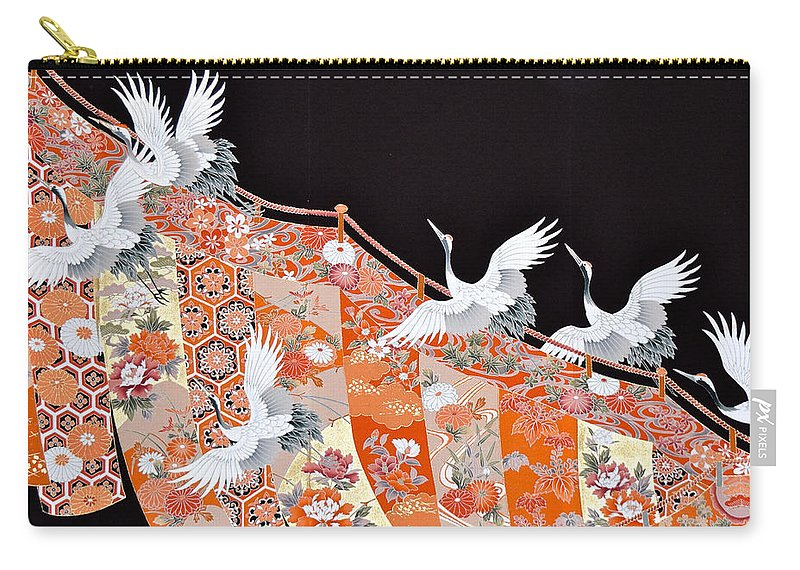 Carry-all Pouch featuring the digital art Spirit of Japan T42 by Miho Kanamori