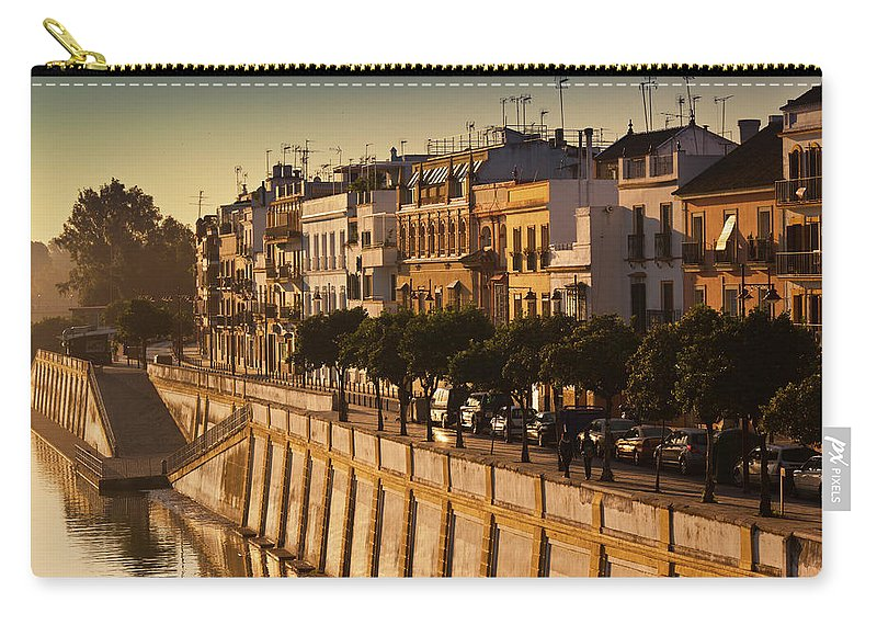 Tranquility Carry-all Pouch featuring the photograph Spain, Andalucia Region, Seville by Walter Bibikow
