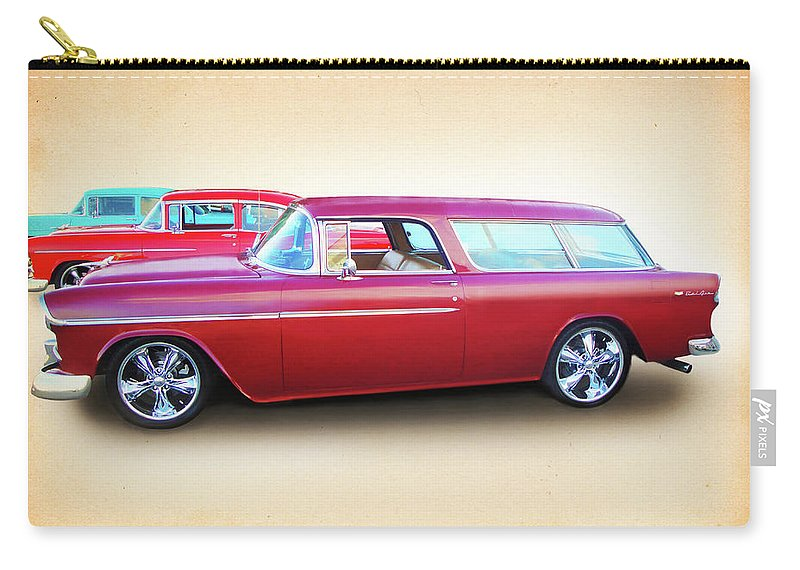 1955 Chevy Carry-all Pouch featuring the digital art 3 - 1955 Chevy's by Rick Wicker
