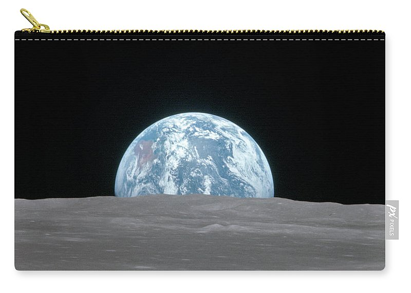 1969 Carry-all Pouch featuring the photograph Apollo 11, Earthrise, 1969 by Science Source