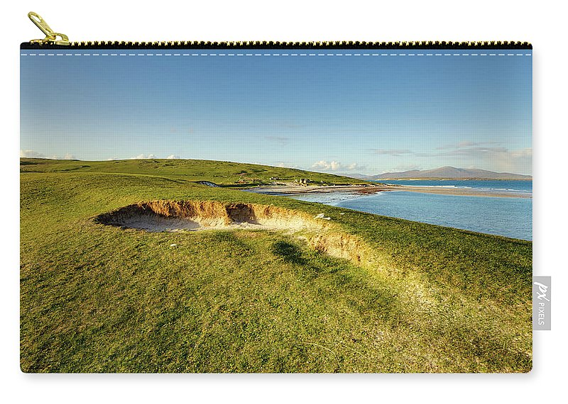Berneray Carry-all Pouch featuring the mixed media Berneray by Smart Aviation