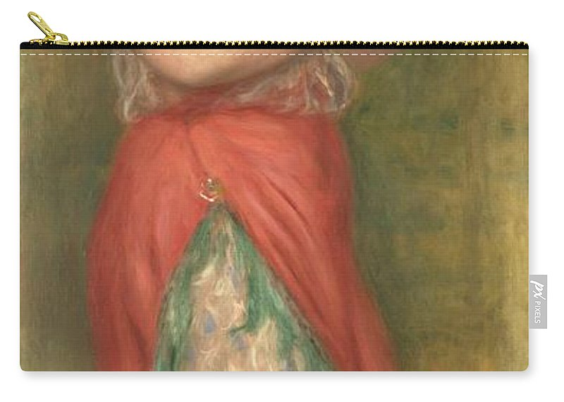 Pierre-auguste Renoir Carry-all Pouch featuring the painting Dancing Girl With Tambourine by Pierre Auguste Renoir