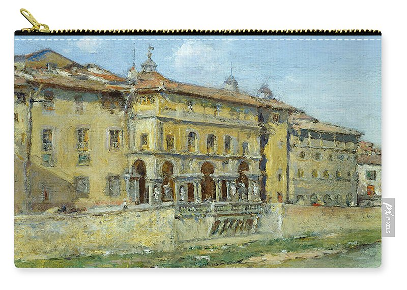 William Merritt Chase (1849 1916) Carry-all Pouch featuring the painting Florence by William Merritt Chase