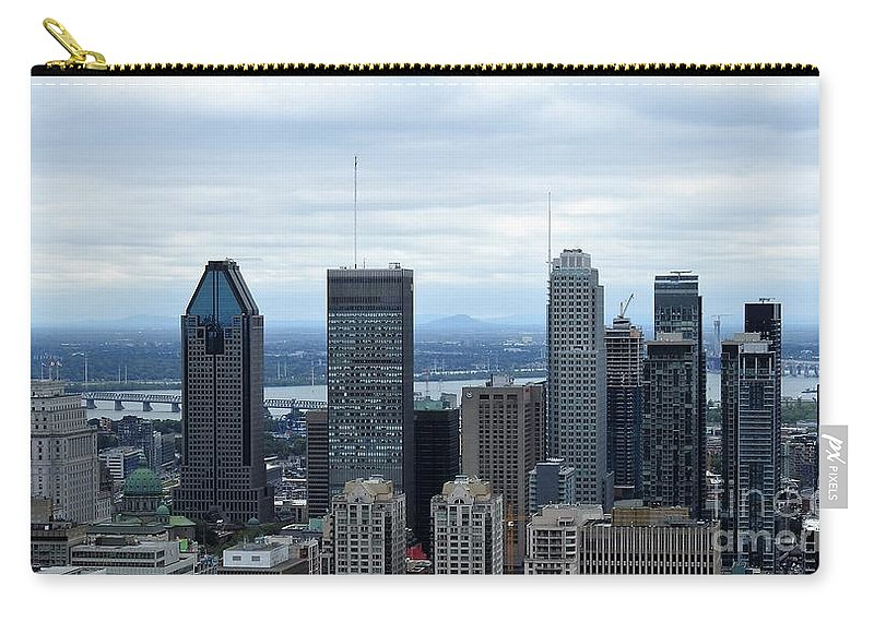 Montreal Skyline Carry-all Pouch featuring the photograph Montreal Skyline by David Gorman