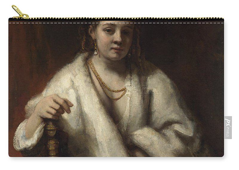 Rembrandt Carry-all Pouch featuring the painting Portrait Of Hendrickje Stoffels by Rembrandt