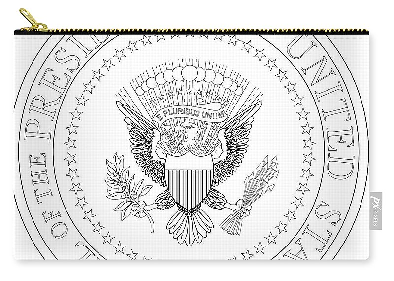 Presidential Carry-all Pouch featuring the digital art Presedent Seal by Bigalbaloo Stock