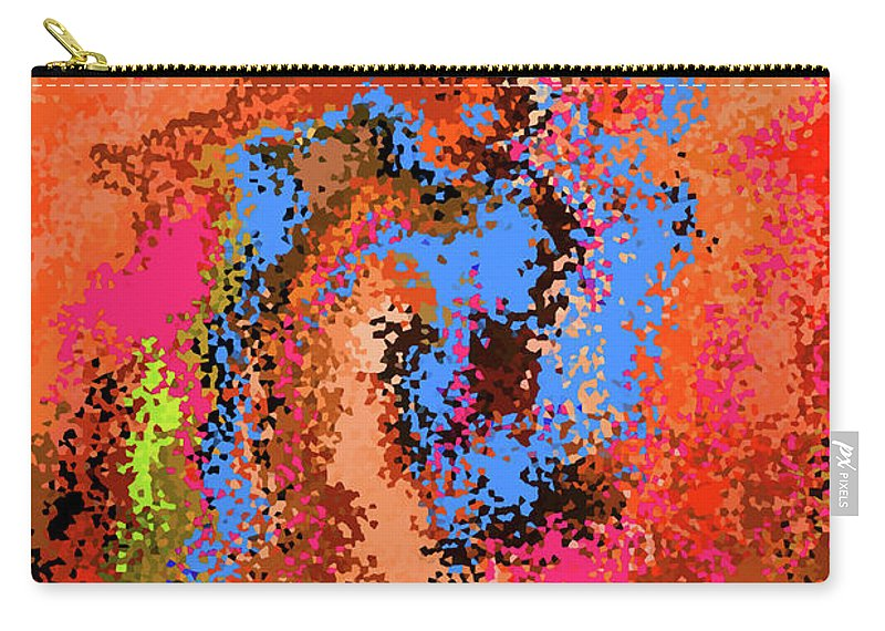 Walter Paul Bebirian Carry-all Pouch featuring the digital art 4-9-2008dab by Walter Paul Bebirian