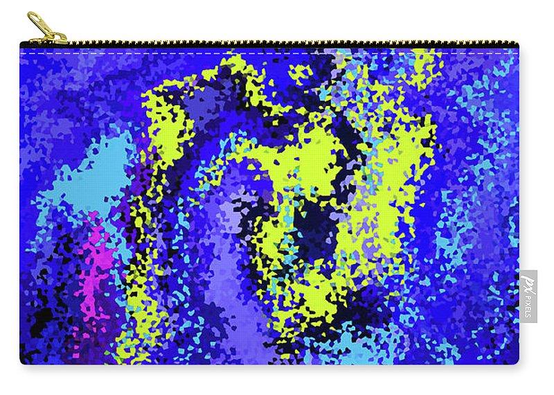 Walter Paul Bebirian Carry-all Pouch featuring the digital art 4-9-2008dabcdefgh by Walter Paul Bebirian