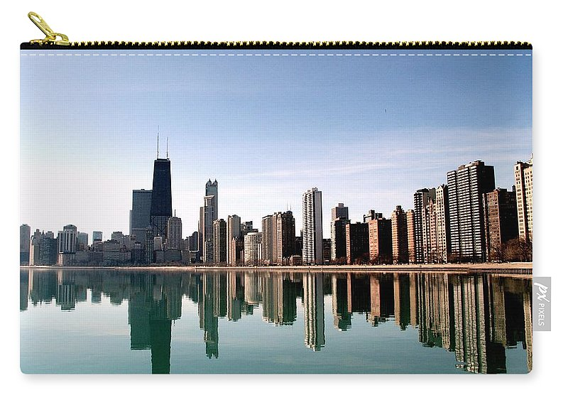 Lake Michigan Carry-all Pouch featuring the photograph Chicago Skyline by J.castro