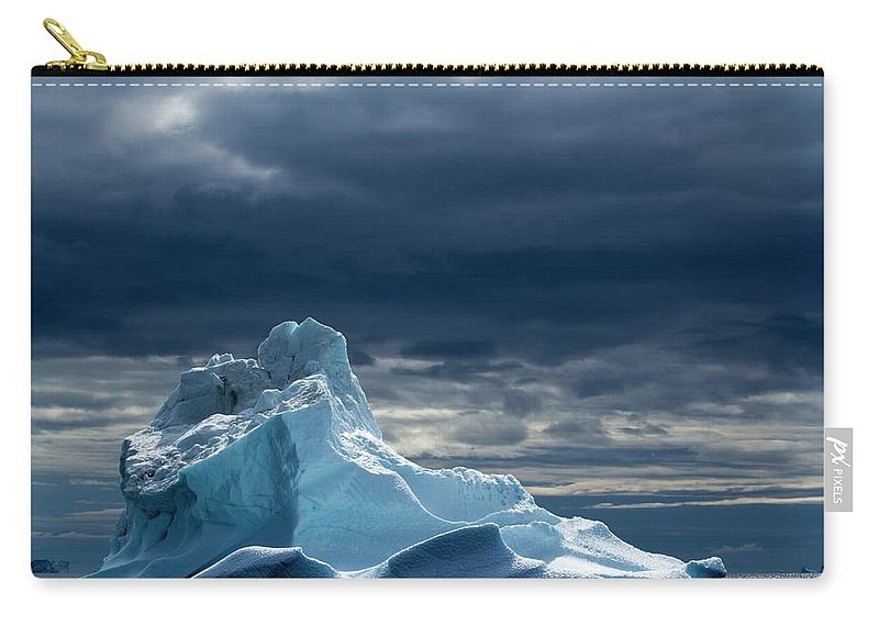 Tranquility Carry-all Pouch featuring the photograph Icebergs, Disko Bay, Greenland by Paul Souders