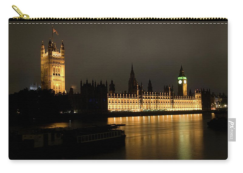 London Carry-all Pouch featuring the photograph River Thames by Anna-Marie Slater