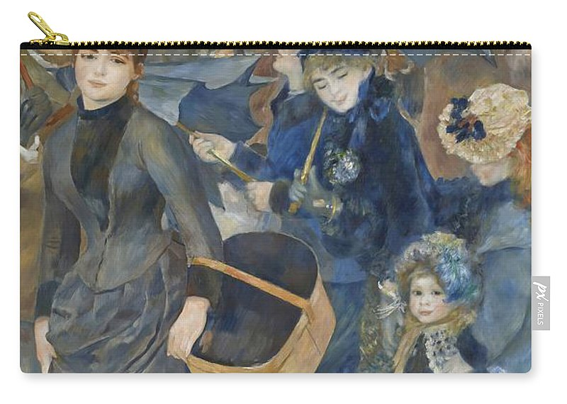 Pierre-auguste Renoir Carry-all Pouch featuring the painting The Umbrellas by Pierre Auguste Renoir