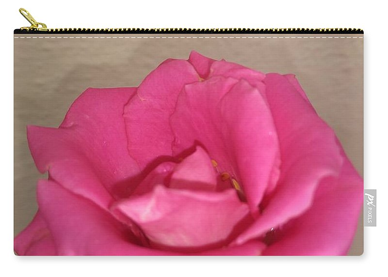 Carry-all Pouch featuring the photograph Rose by Nimu Bajaj and Seema Devjani