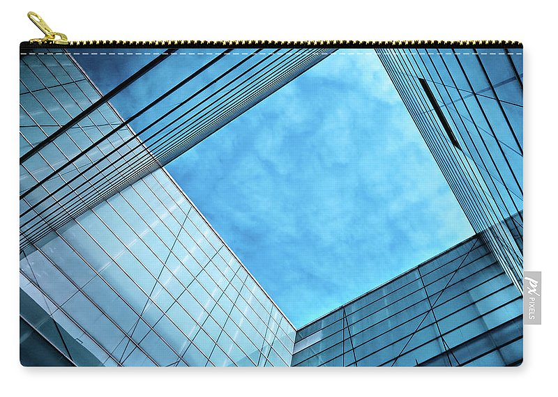 Office Carry-all Pouch featuring the photograph Modern Glass Architecture by Nikada