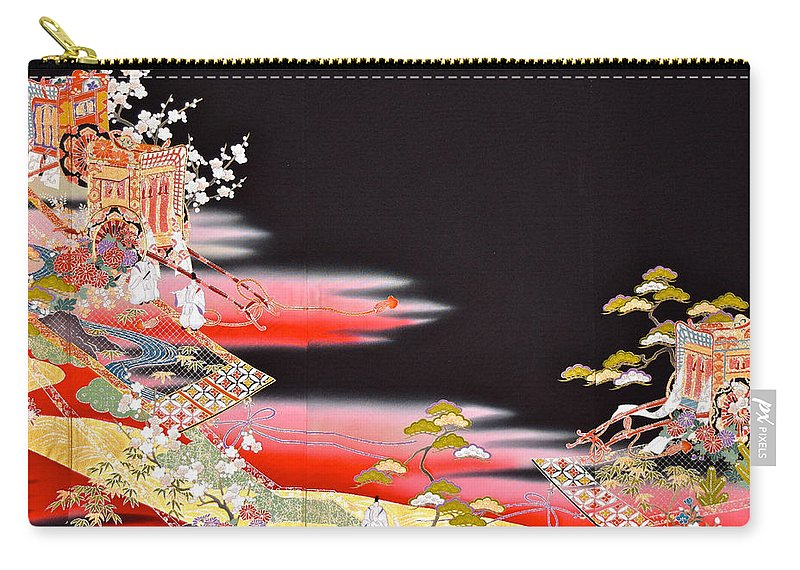 Carry-all Pouch featuring the tapestry - textile Spirit of Japan T81 by Miho Kanamori
