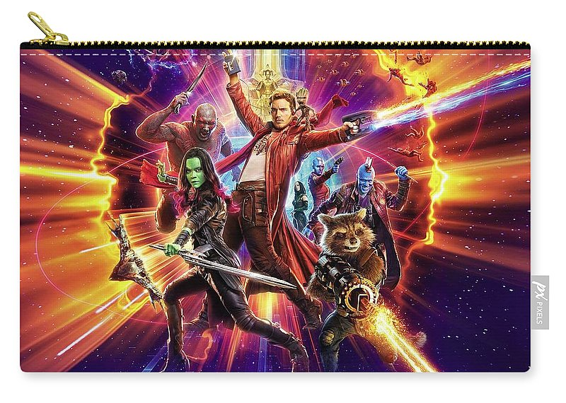 Guardians Of The Galaxy Carry-all Pouch featuring the digital art Guardians Of The Galaxy by Geek N Rock