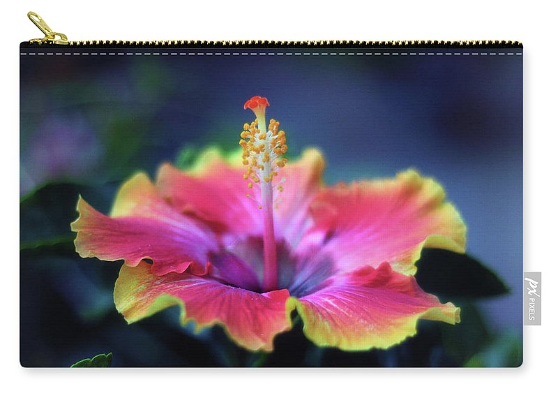 Hibiscus Carry-all Pouch featuring the photograph Hibiscus Delight by Jessica Jenney