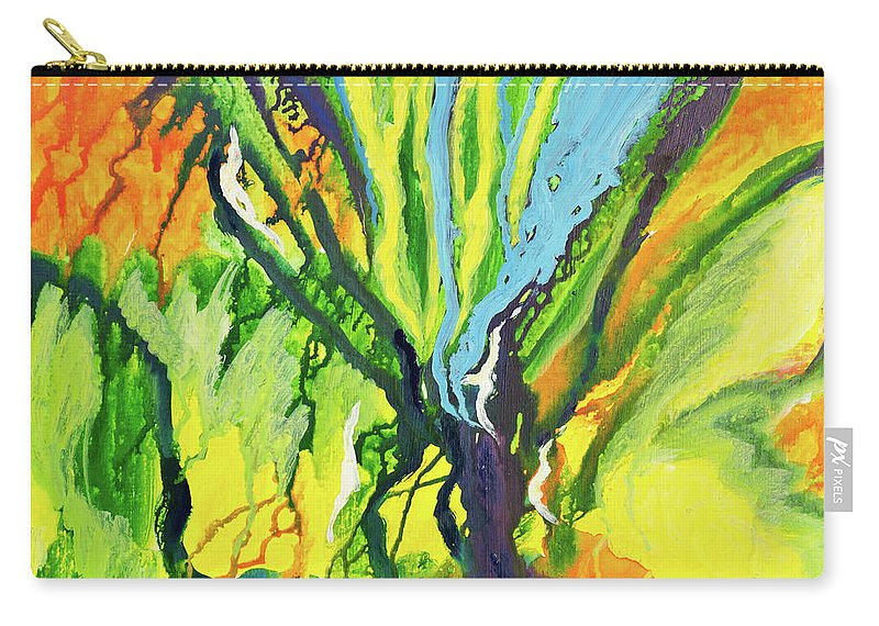 Art Carry-all Pouch featuring the digital art Abstract Background by Balticboy