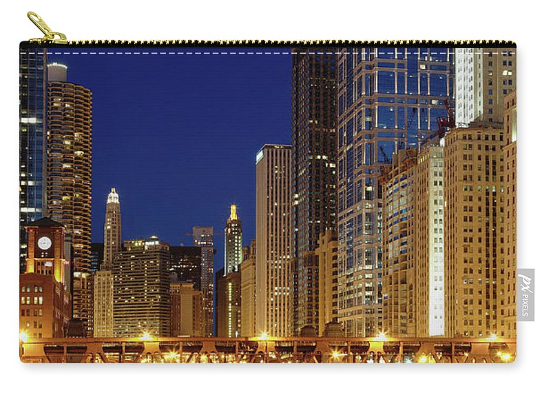Chicago River Carry-all Pouch featuring the photograph Chicago, Il by Adam Jones