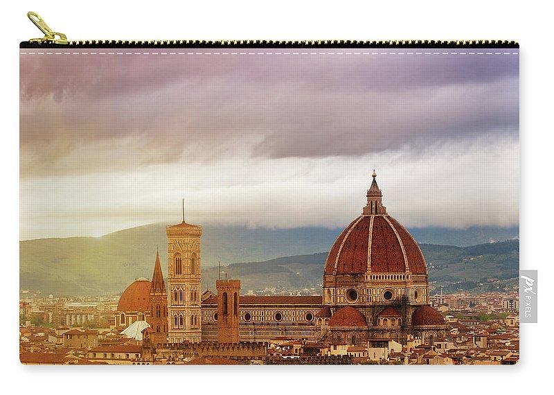 Palazzo Vecchio Carry-all Pouch featuring the photograph Florence, Santa Maria Del Fiore by Deimagine