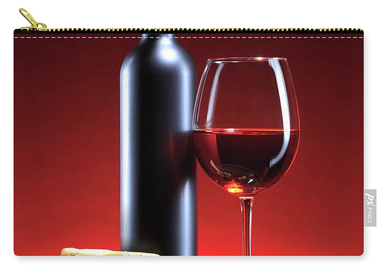 Cheese Carry-all Pouch featuring the photograph Red Wine Composition by Valentinrussanov