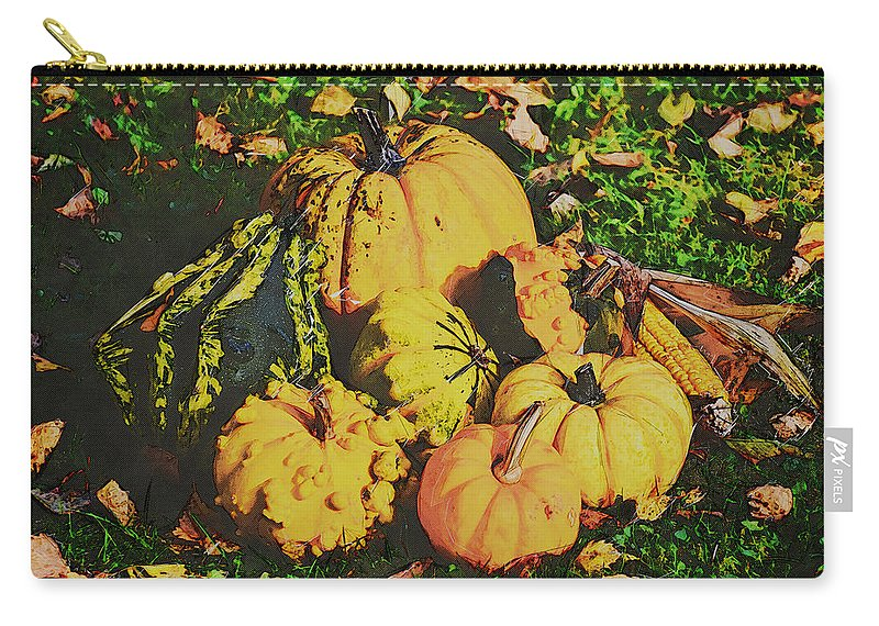 Abstract Carry-all Pouch featuring the photograph The Pumpkin Patch by Robert Kinser
