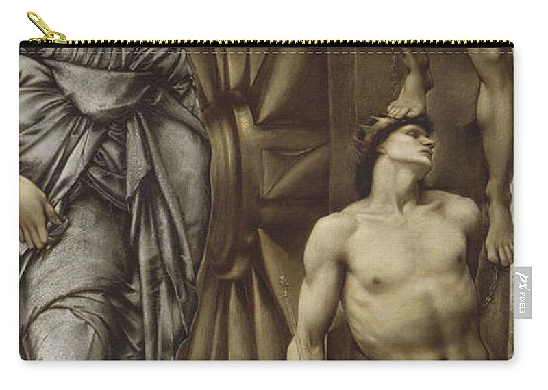 Edward Burne-jones Carry-all Pouch featuring the painting The Wheel Of Fortune by Edward Burne Jones