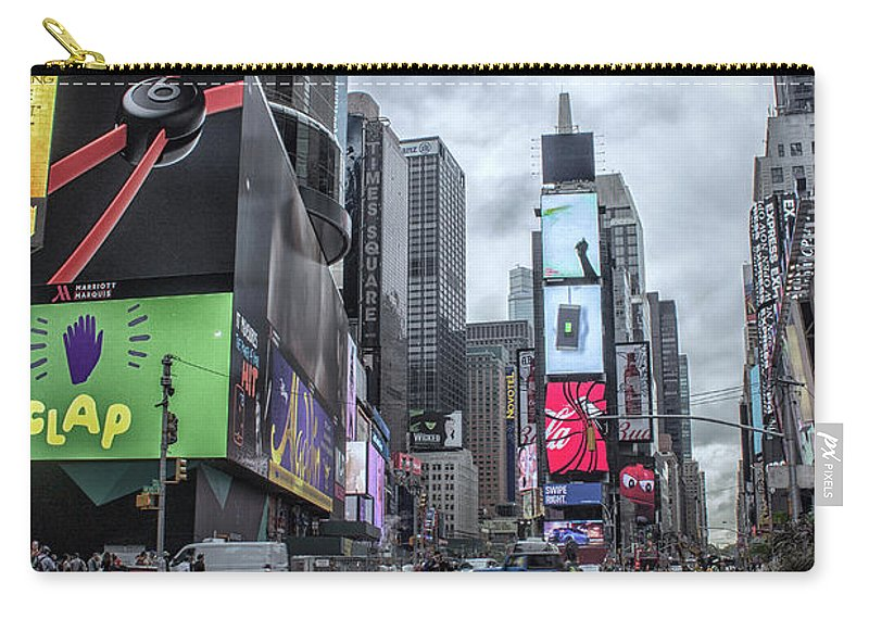 City Carry-all Pouch featuring the photograph Times Square by Martin Newman
