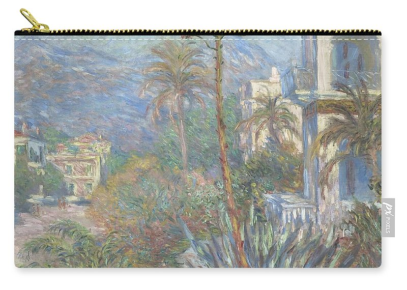 Claude Monet Carry-all Pouch featuring the painting Villas At Bordighera by Claude Monet