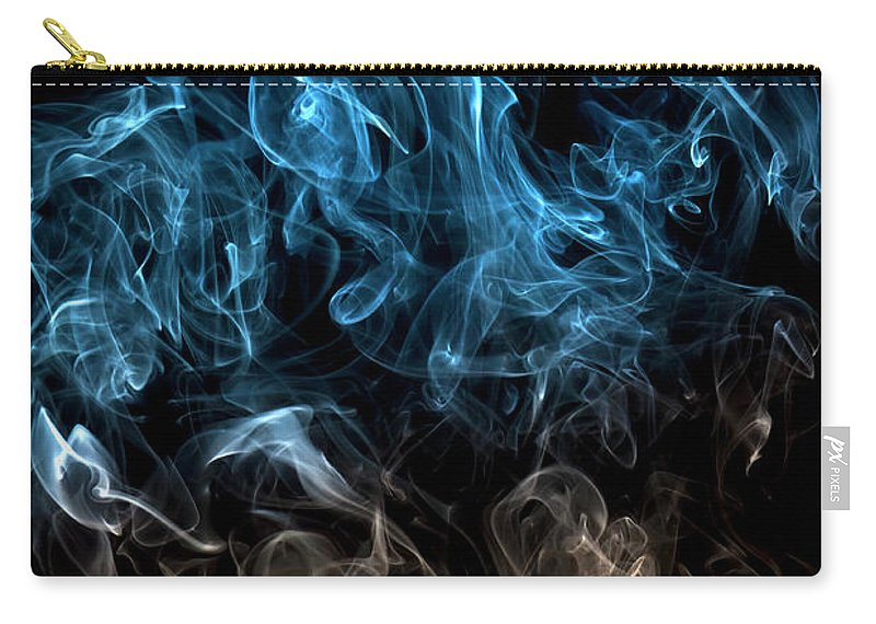 Curve Carry-all Pouch featuring the photograph Blue, Creative Abstract Vitality Impact by Tttuna