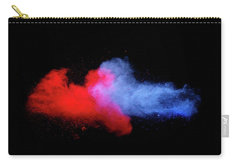 Copenhagen Carry-all Pouch featuring the photograph Explosion Of Colored Powder by Henrik Sorensen