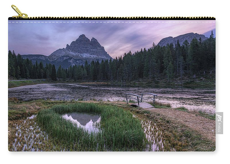 Lake Antorno Carry-all Pouch featuring the photograph Lake Antorno - Italy by Joana Kruse