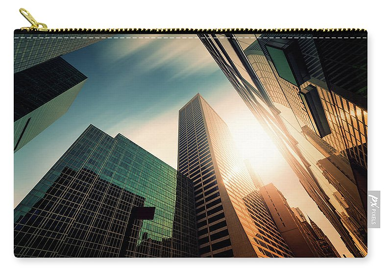 Working Carry-all Pouch featuring the photograph Office Skysraper In The Sun by Ppampicture