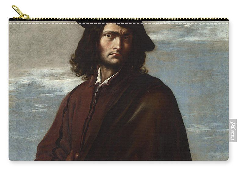Salvator Rosa Carry-all Pouch featuring the painting Self Portrait by Salvator Rosa