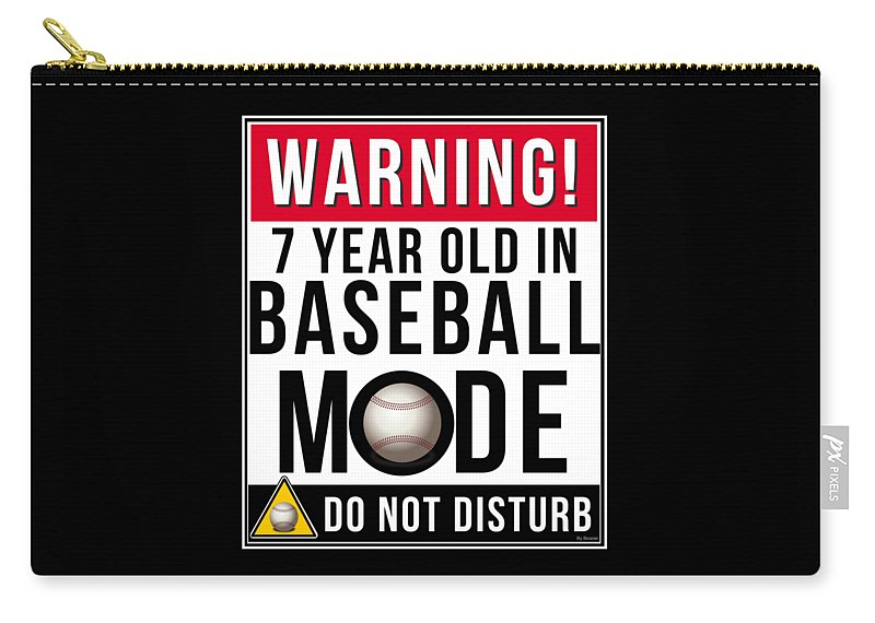 Christmas Carry-all Pouch featuring the digital art 7 Year Old In Baseball Mode by Jose O