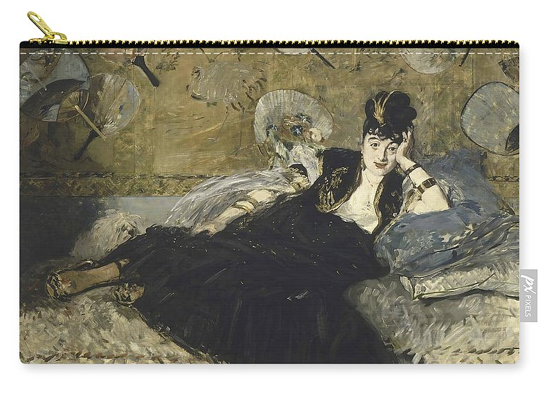 Edouard Manet Carry-all Pouch featuring the painting Woman With Fans by Edouard Manet