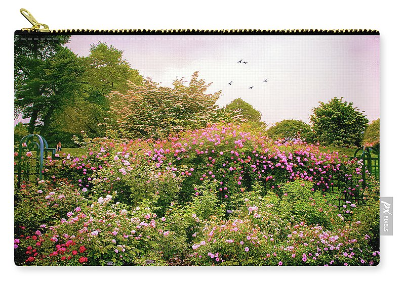 New York Botanical Garden Carry-all Pouch featuring the photograph Rose Garden Greeting by Jessica Jenney