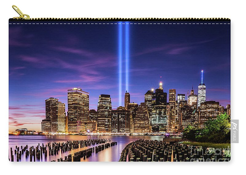 9/11 Memorial Carry-all Pouch featuring the photograph 9/11/2016 Sunset by Imma Barrera