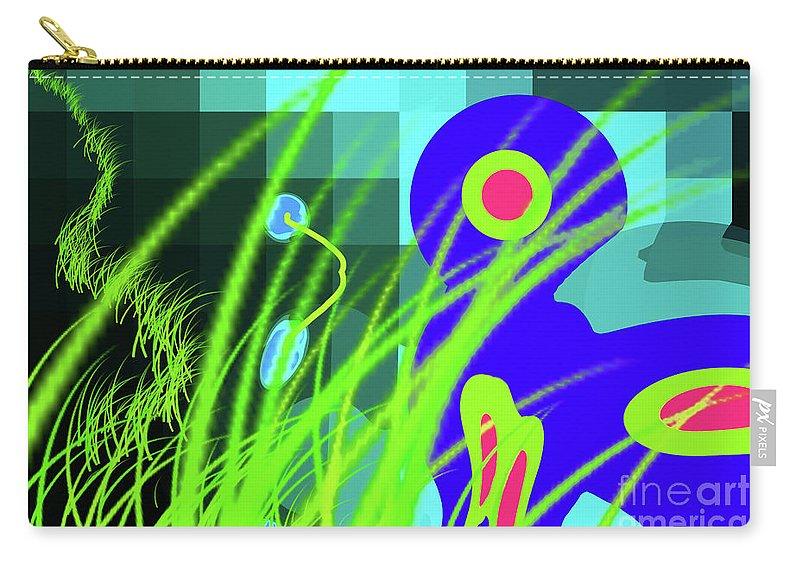 Walter Paul Bebirian: The Bebirian Art Collection Carry-all Pouch featuring the digital art 9-21-2009xabcdefghijklmnopqrtuv by Walter Paul Bebirian