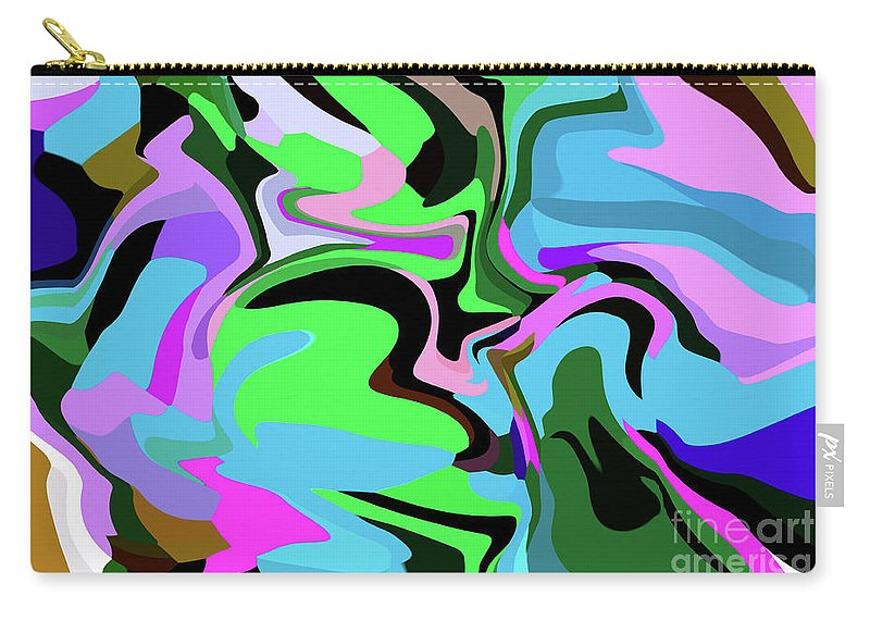 Walter Paul Bebirian Carry-all Pouch featuring the digital art 9-8-2008abcde by Walter Paul Bebirian