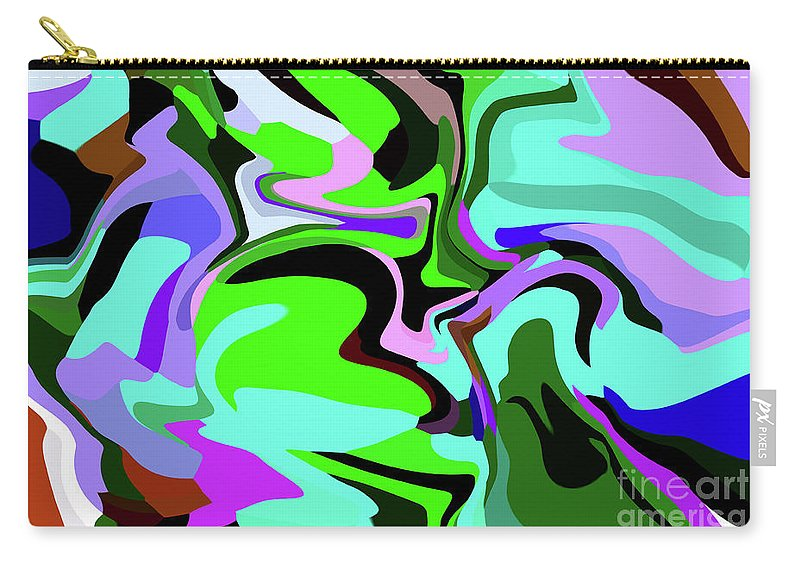 Walter Paul Bebirian Carry-all Pouch featuring the digital art 9-8-2008abcdef by Walter Paul Bebirian