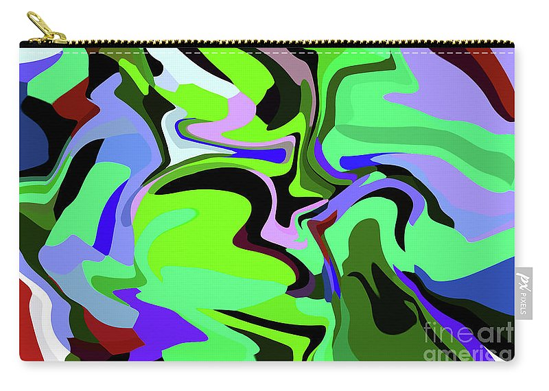 Walter Paul Bebirian Carry-all Pouch featuring the digital art 9-8-2008abcdefg by Walter Paul Bebirian