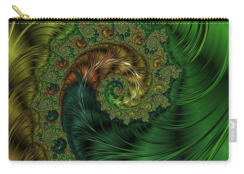 Fractal Carry-all Pouch featuring the digital art Beautiful Abstracts By Raphael Terra by Esoterica Art Agency