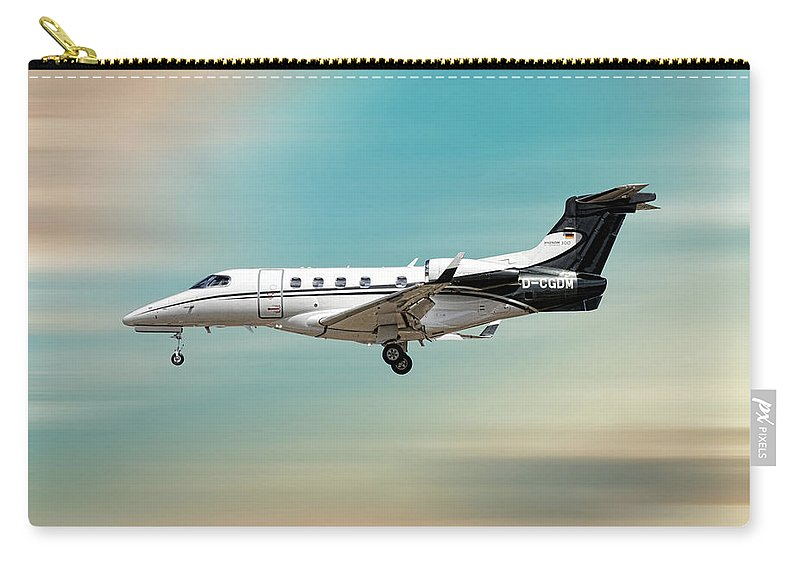 Phenom Carry-all Pouch featuring the mixed media Phenom 300 Arrow by Smart Aviation