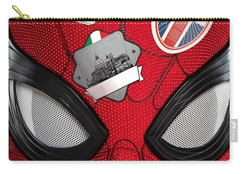 Carry-all Pouch featuring the digital art Spider Man by Geek N Rock