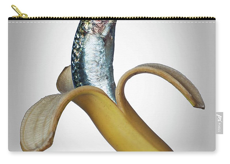 Confusion Carry-all Pouch featuring the photograph A Fish In A Banana by Buena Vista Images