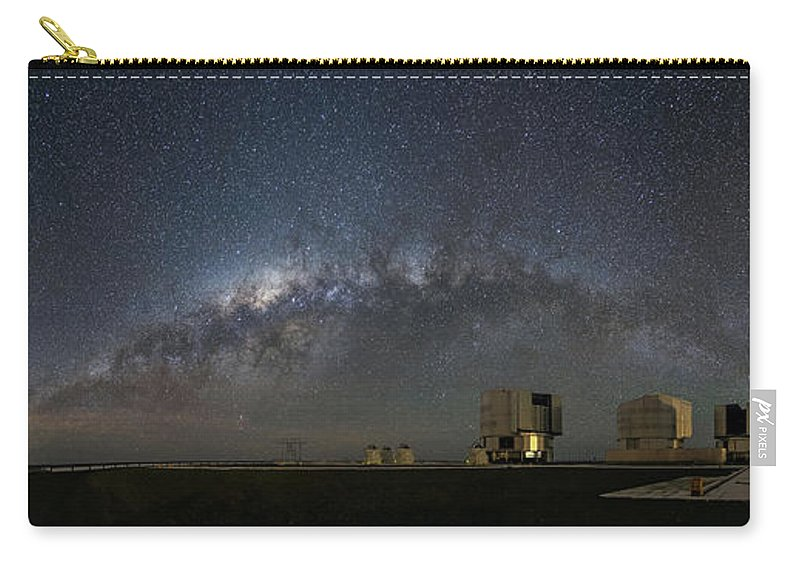 A Galactic View From The Observation Deck Carry-all Pouch featuring the photograph A Galactic View From The Observation Deck by New Digital Museum